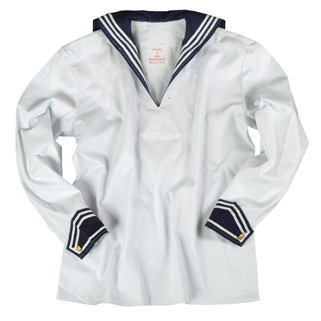 Mil-Tec Matrozen shirt wit/blauw