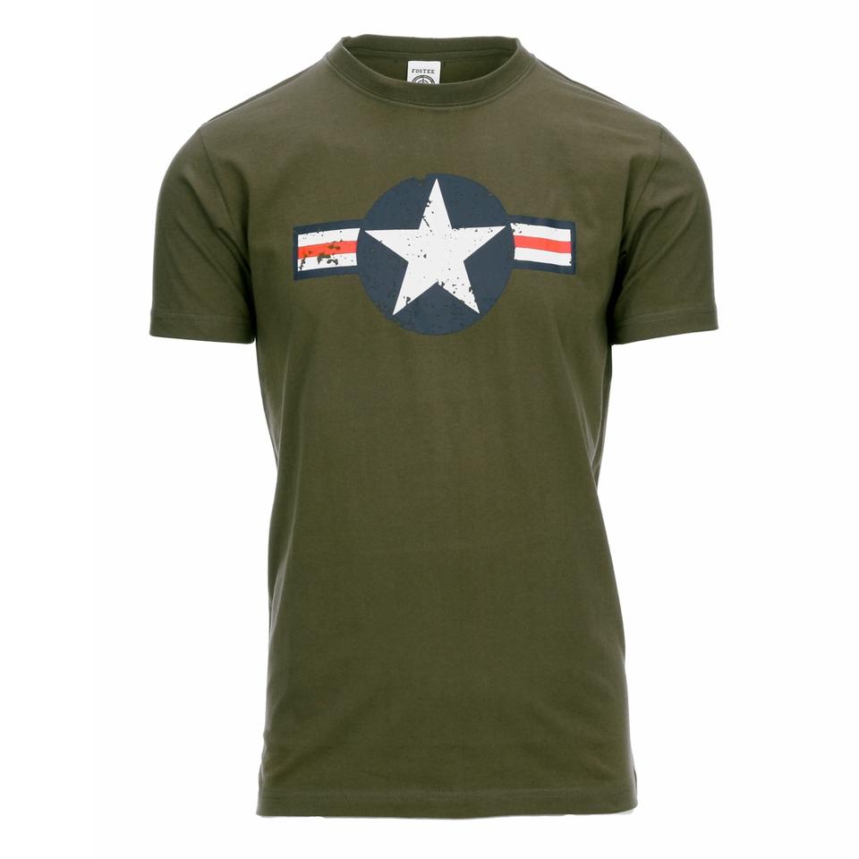 Fostex t-shirt USAF vintage legergroen