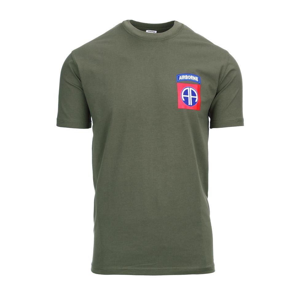 Fostex T-shirt 82nd Airborne chest groen