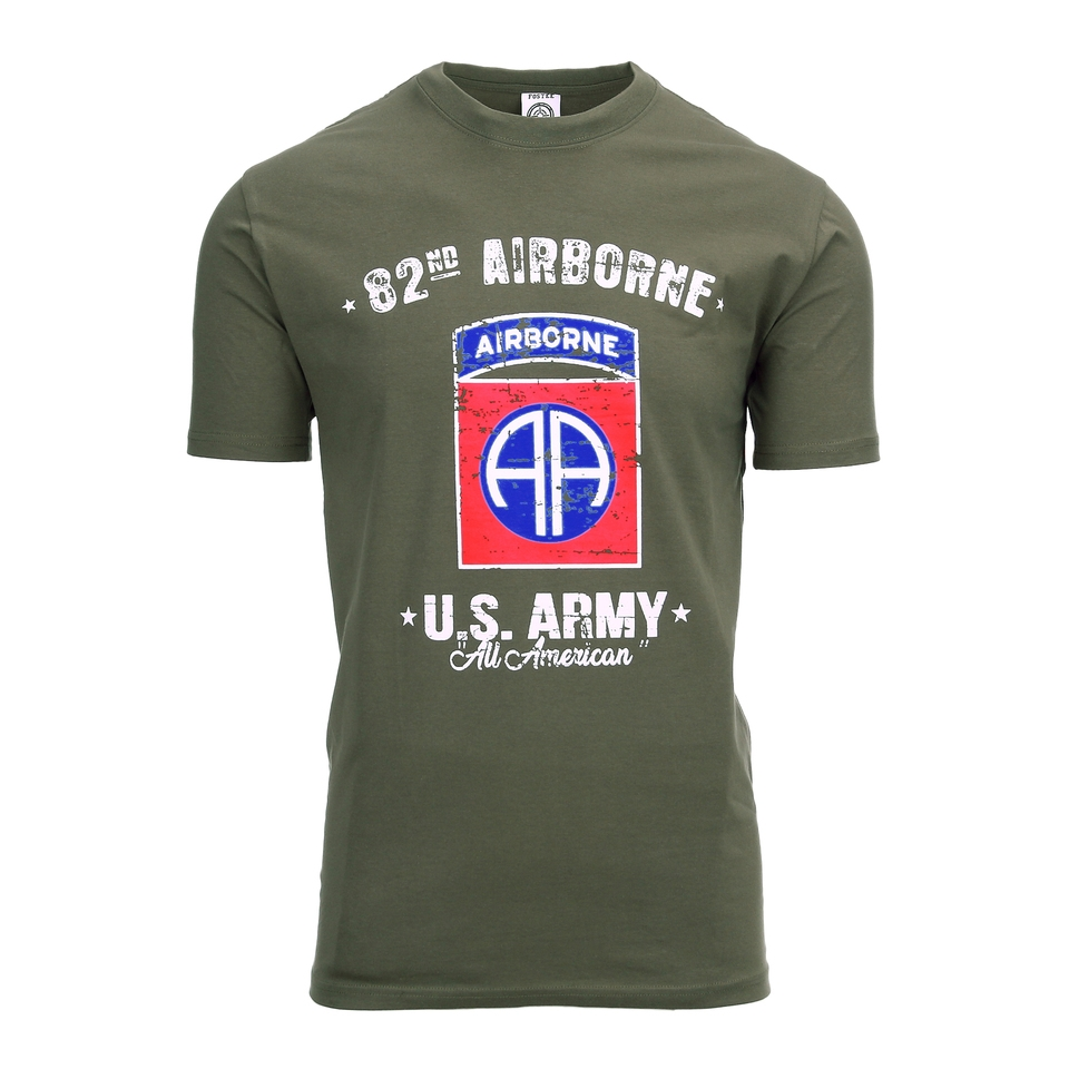 Fostex T-shirt US ARMY 82nd Airborne groen
