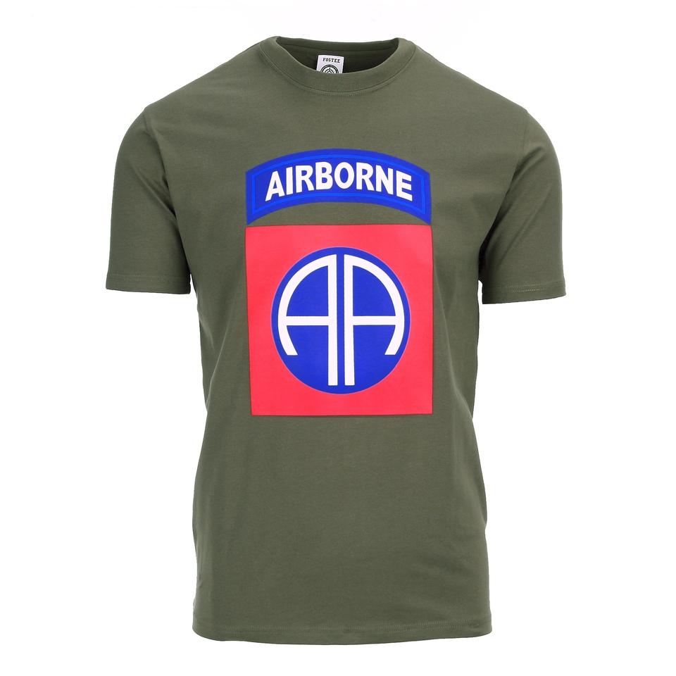 Fostex T-shirt 82nd Airborne Big Logo groen