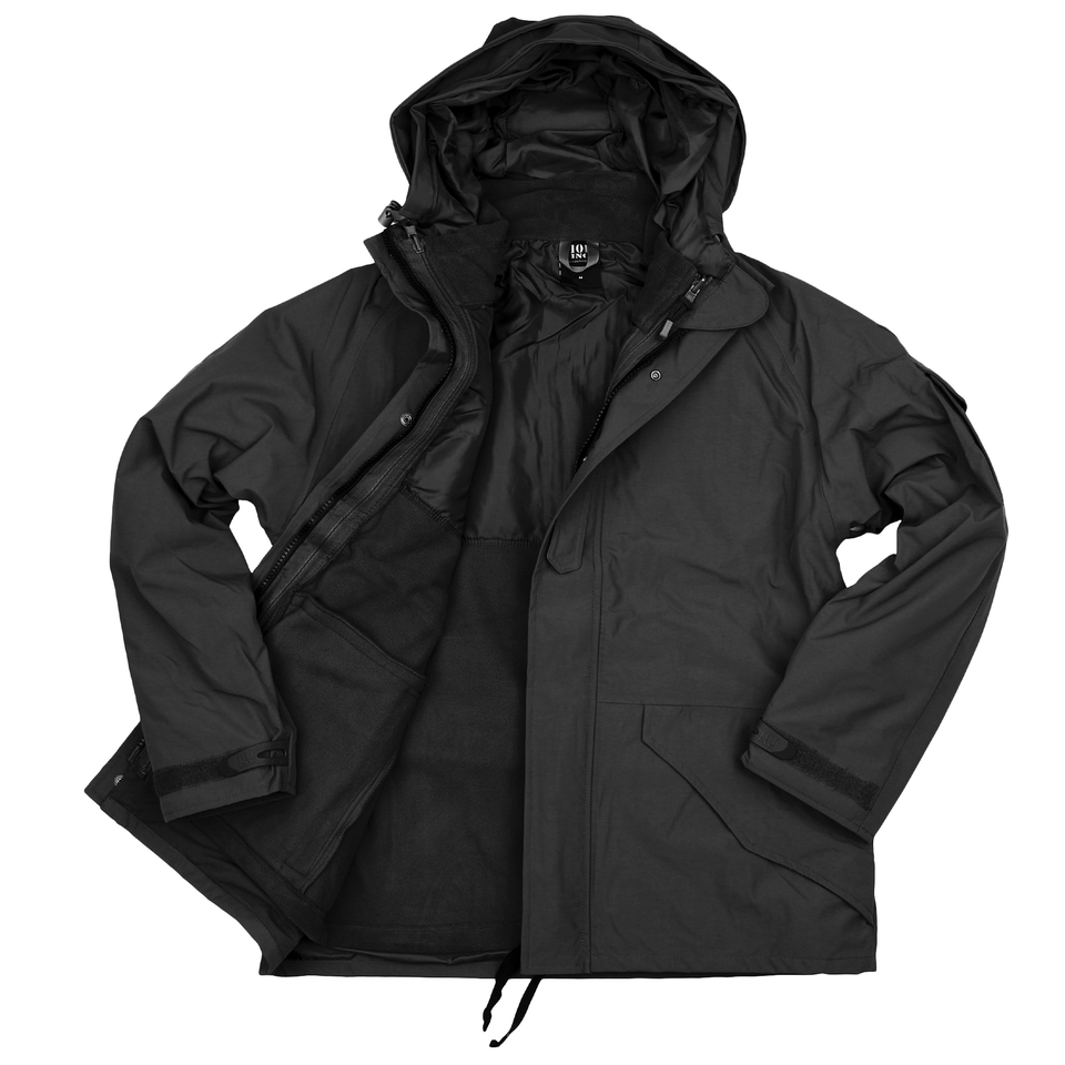 101inc Military Parka waterproof 3 in 1 zwart
