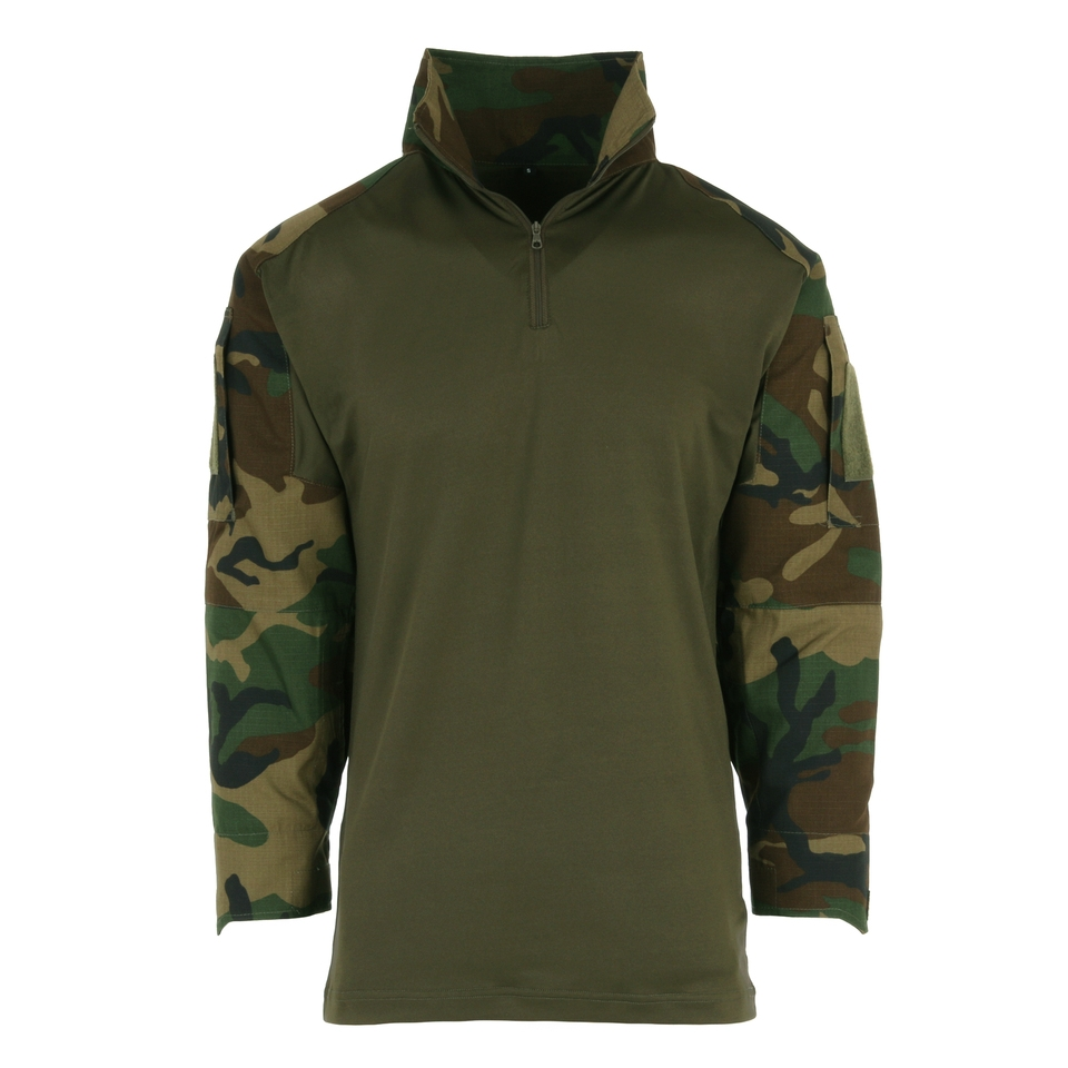 101inc Tactical shirt UBAC woodland camo