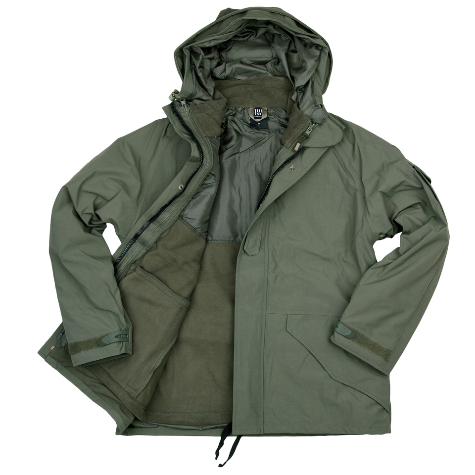 101inc Military Parka waterproof 3 in 1 groen