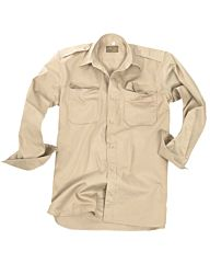 Mil-Tec Tropen Overhemd katoen khaki