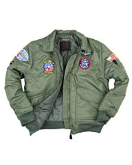 Fostex kinder CWU bomber jack groen