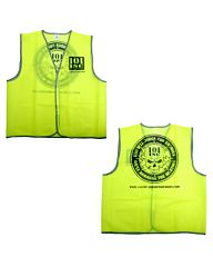 101inc Safety Vest Reflecterend print geel