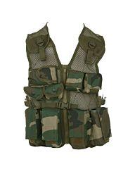 Fostex kinder tactical vest woodland camo