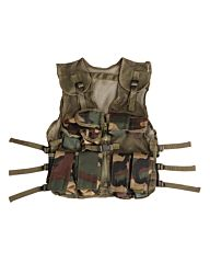Fostex kinder tactical vest woodland camo