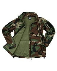 101inc Softshell Jacket Tactical woodland camo