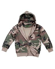 Fostex hooded kinder vest woodland camo