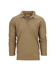 101inc Tactical polo Quick dry lange mouw Coyote