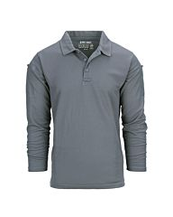 101inc Tactical polo Quick dry lange mouw Wolf Grey