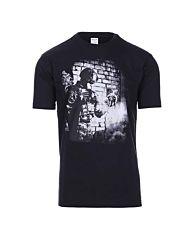 101inc T-shirt Soldier skull zwart