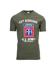 Fostex T-shirt US ARMY 82nd Airborne groen