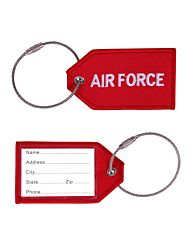 Bagage Label Airforce rood