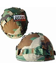 Fosco kinder helm deluxe woodland camo