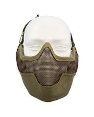 Fostex Airsoft beschermingsmasker en oorbescherming khaki