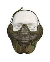 Fostex Airsoft beschermingsmasker en oorbescherming multi camo