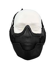 Fostex Airsoft beschermingsmasker en oorbescherming zwart