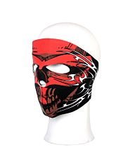 Biker Mask Neoprene full face red skull