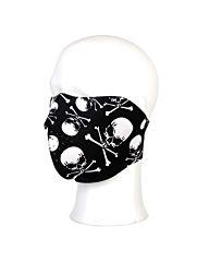 Biker Mask Neoprene half face skull&bones