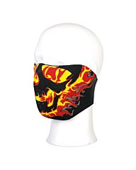 Biker Mask Neoprene half face flames