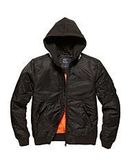 Vintage Industries Westend Hooded bomerjacket black/black