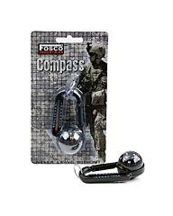 Karabijn+kompas en thermometer zwart