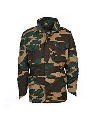 Fostex M-65 Fieldjacket buitenjas heavy duty woodland camo