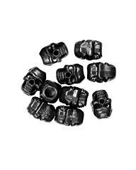 101inc Cord Stopper Skull 10st zwart