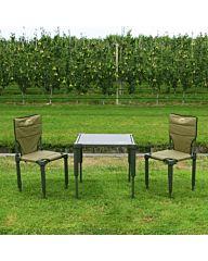 Wild Land Kampeerset 2X stoel 1X tafel groen