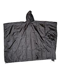 Fostex ripstop poncho zwart