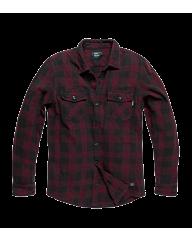 Vintage Industries Globe heavyweight shirt burgundy