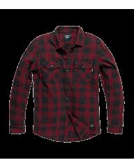 Vintage Industries Globe heavyweight shirt red