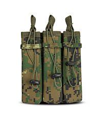 101Inc Molle pouch Sidearm 3 Mag. B digital WDL camo