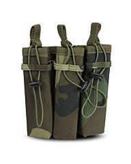 101Inc Molle pouch Sidearm 3 Mag. B woodland camo