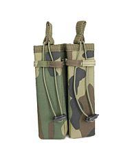 101Inc Molle pouch Sidearm 2 Mag. C woodland camo