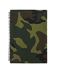 Notitieboek A4 woodland camo