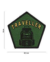 Embleem Traveller stof+klittenband