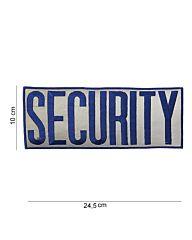 Embleem stof Security extra groot stof