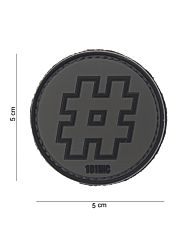 Embleem 3D PVC Hashtag zwart