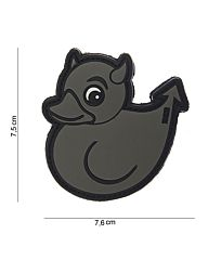 Embleem 3D PVC Devil Duck grijs