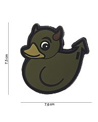 Embleem 3D PVC Devil Duck groen