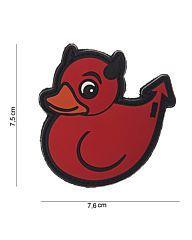 Embleem 3D PVC Devil Duck rood