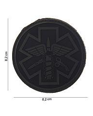 Embleem 3D PVC Para Medic black