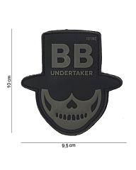 Embleem 3D PVC BB Undertaker zwart