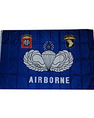 vlag Airborne blauw embleem