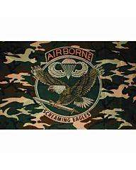 vlag Airborne Screaming Eagles camo