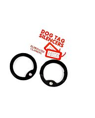 Fosco dog-tags silencers rubber zwart